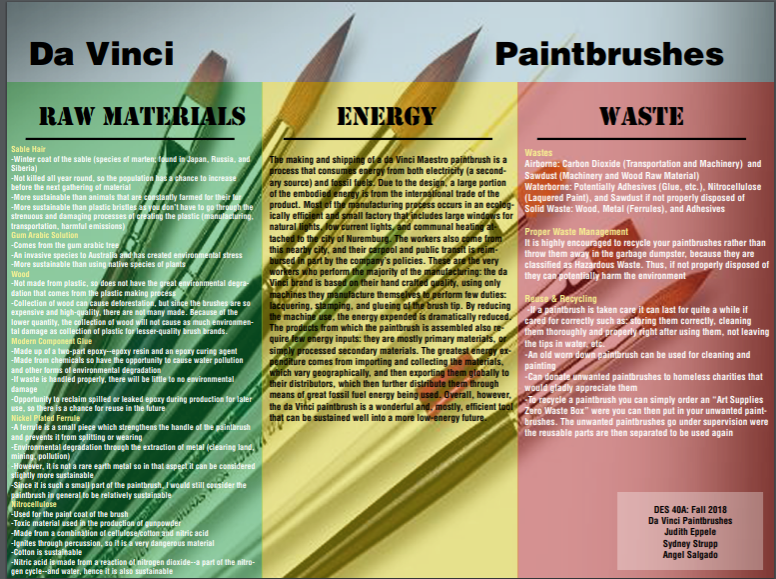Da Vinci Paintbrush Poster