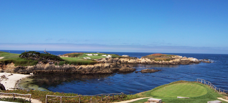Cypress Point   - heroic shots are always the most memorable (photo by Tom Breazeale)