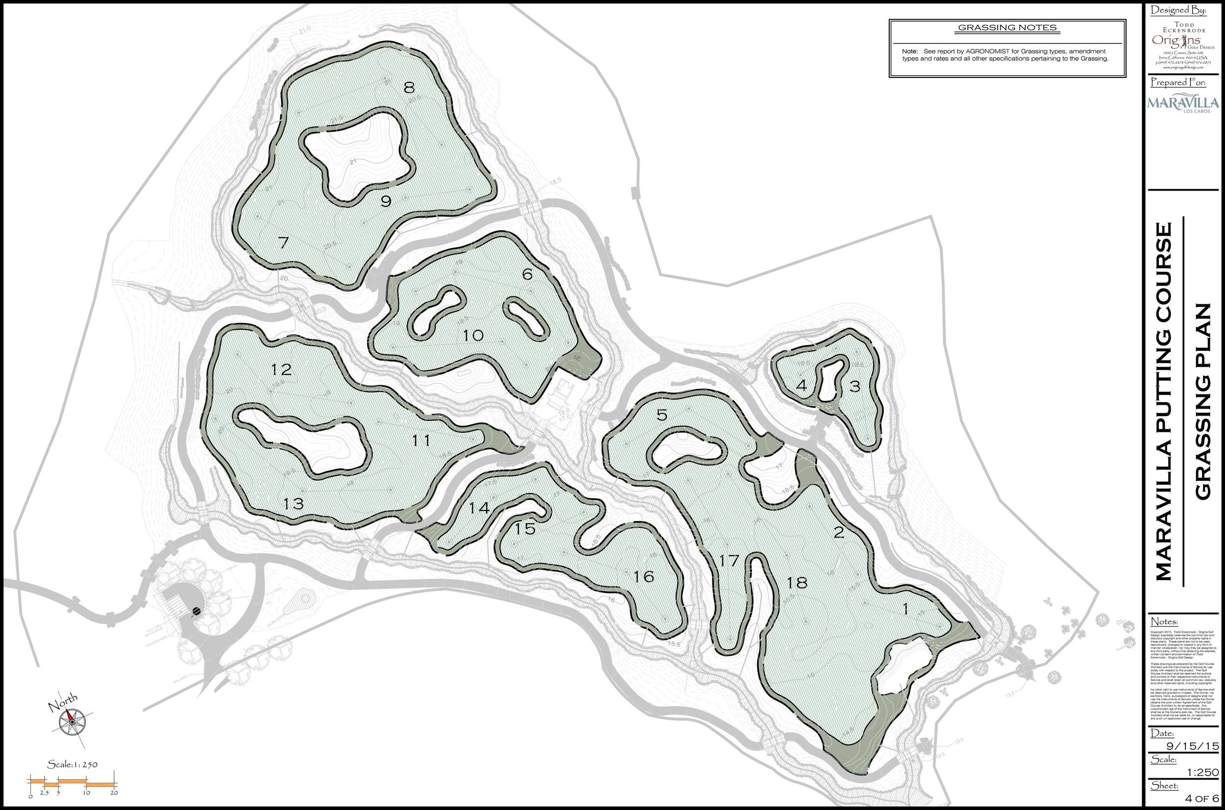 Origins Golf Design Grassing Plan