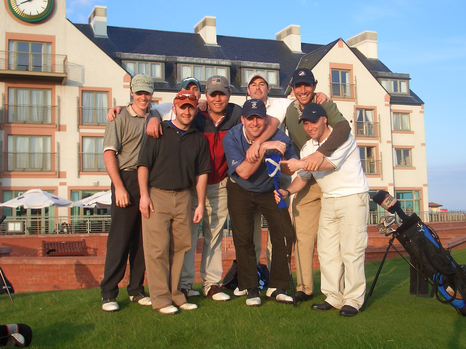 The majority of our class after a round at Carnoustie