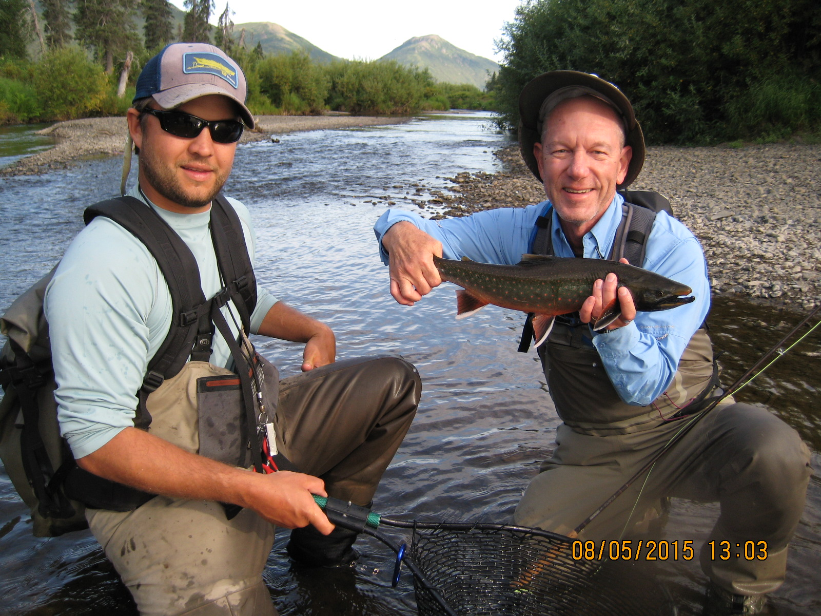 Dianne noted that Eric-the-guide was good looking, never mind the great fish or yours truly