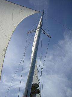 Trim sails on a breezy day in Barbados