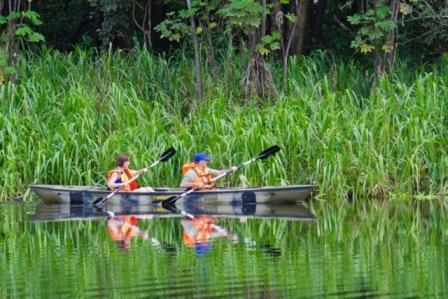 Kayaking in the Amazon Jungle