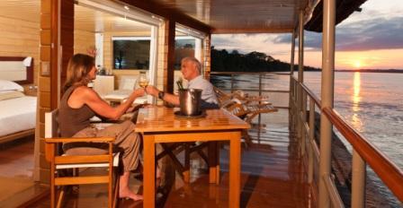 Private Balcony on the Delfin I Amazon Cruise Vessel