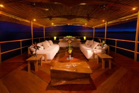 Top Deck on the Delfin I– Perfect for Lounging