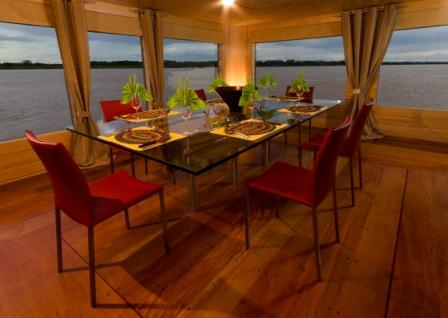 Dining Room on the Delfin I