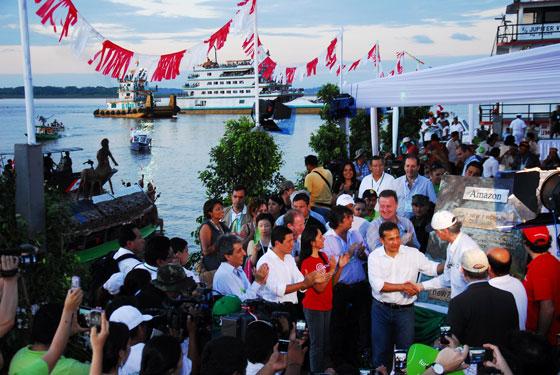 Celebrating in Iquitos, Peru