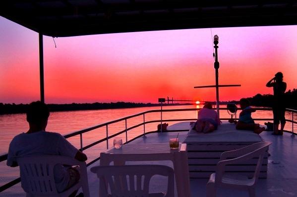 amazon cruise sunset