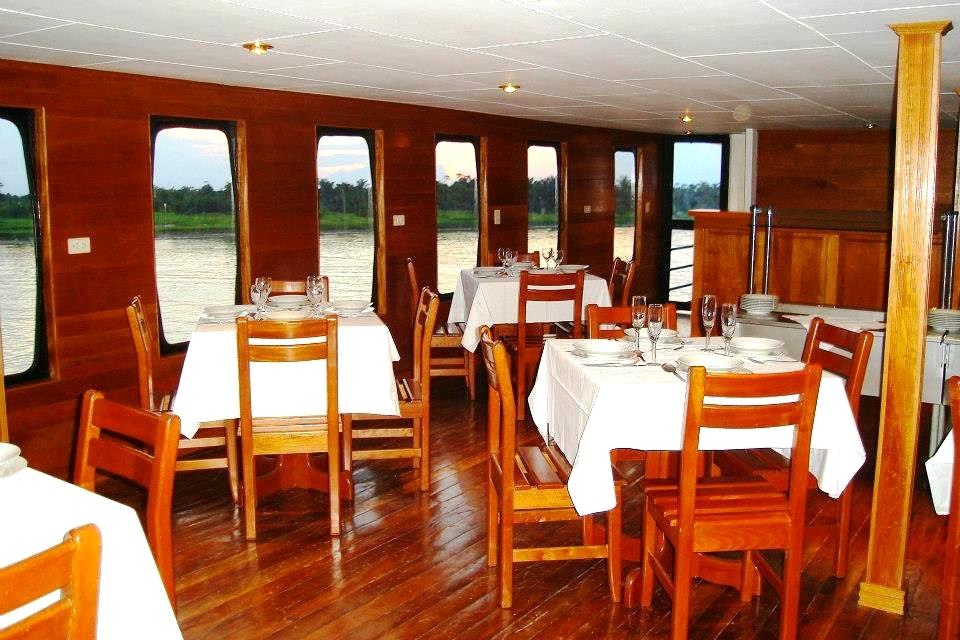 Amazon charter cruise lounge room