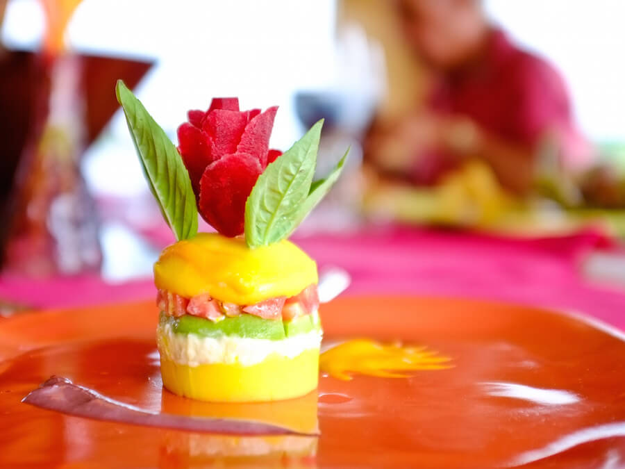 Peruvian Causa on the Delfin Amazon Cruise