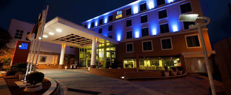 Exterior of the Go Inn Hotel, Manaus