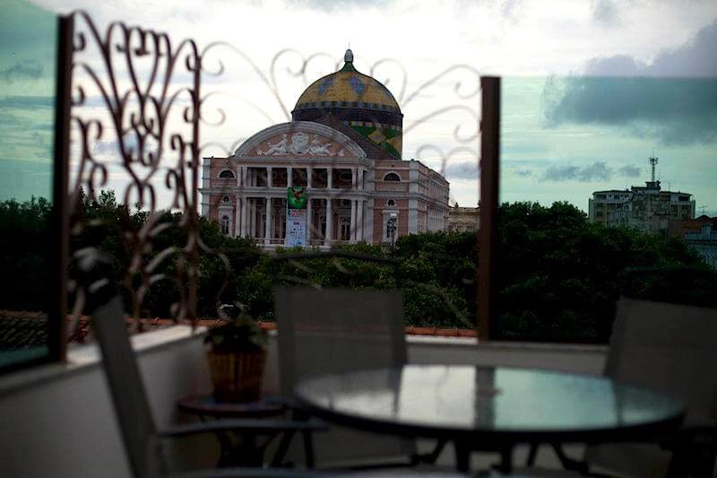 View of the Manaus Opera Theatre from Casa Teatro