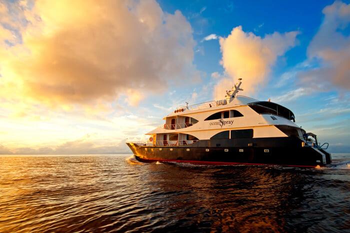 Ocean Spray Galapagos sunset