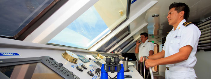 Ocean Spray captain's bridge