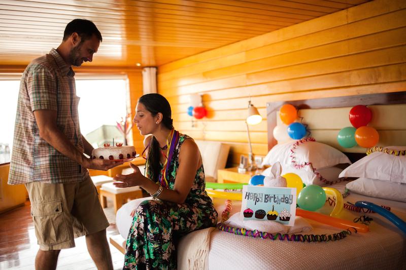 Birthday Celebration on the Delfin Amazon Cruise