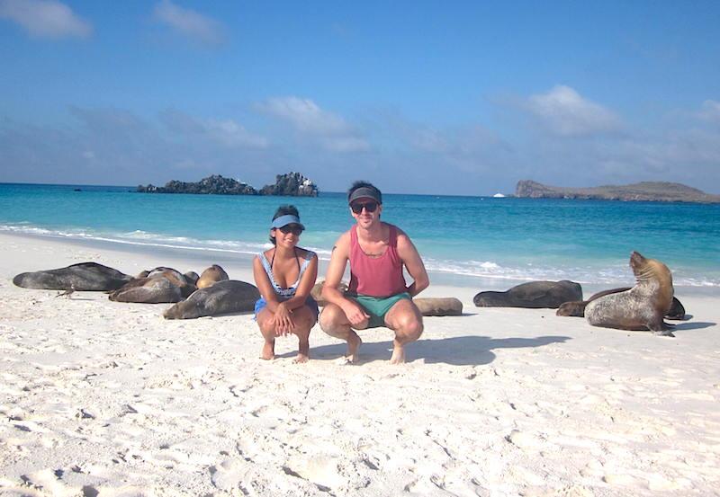 Posing with Sea Lions on Española Island