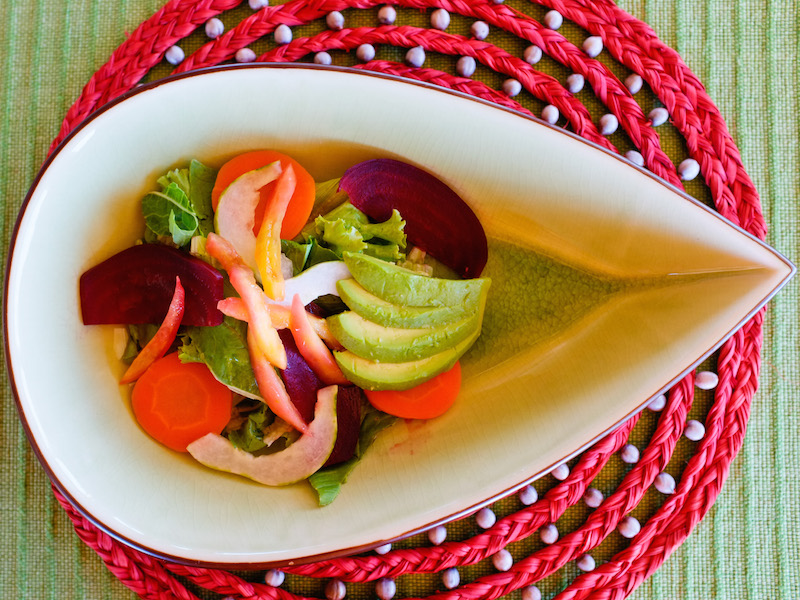 Table settings on the Delfin Cruises are all made by local Artisans.