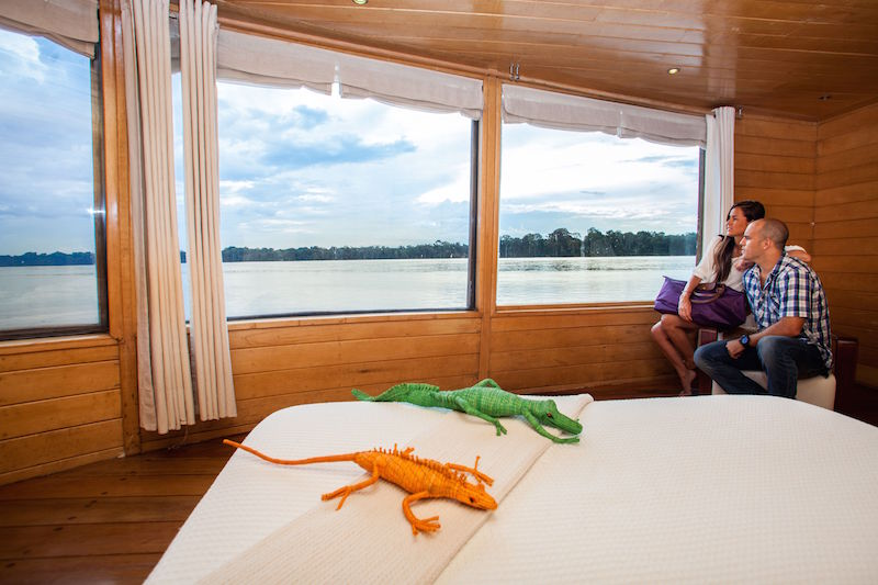 Artisan handicrafts are used to decorate the Delfin Amazon Cruises.