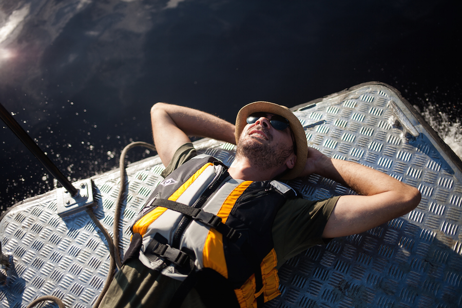 Life vests are used while on board skiffs.
