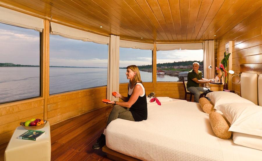 On board the Delfin II Amazon cruise.