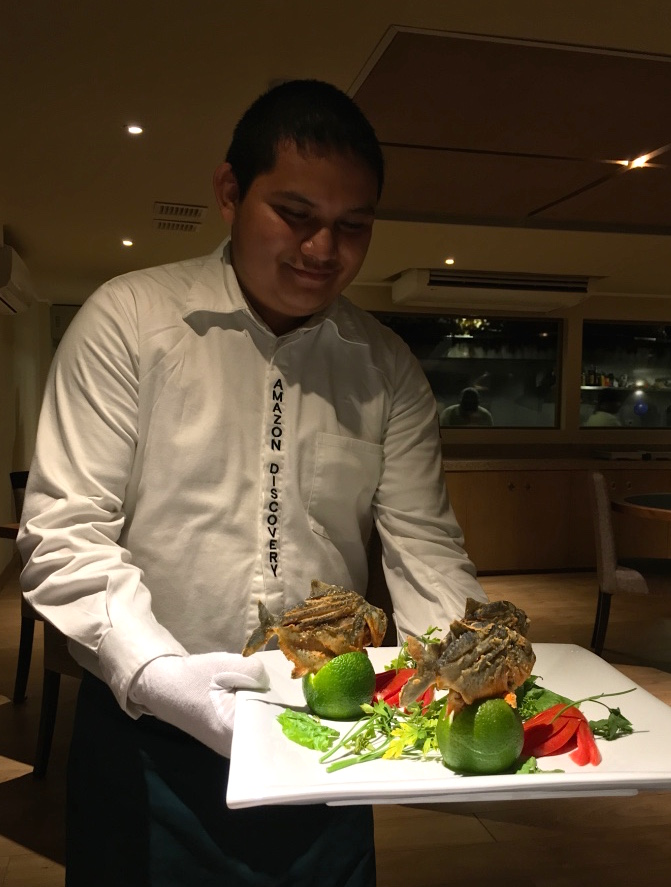 Amazon Discovery cuisine on board