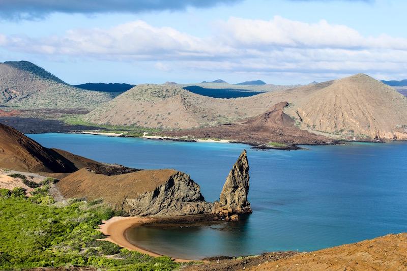 View of the Pinnacle Rock, Bartolomé Island.