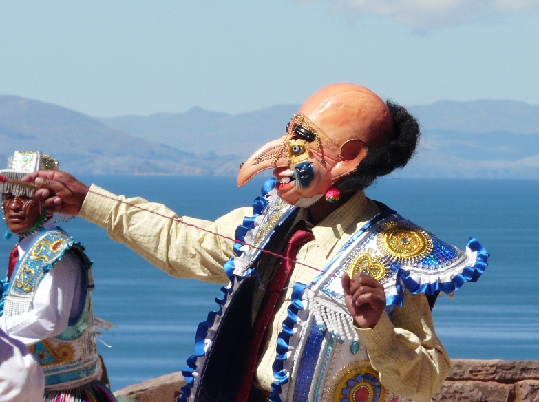 Traditional folkloric mask in Puno.