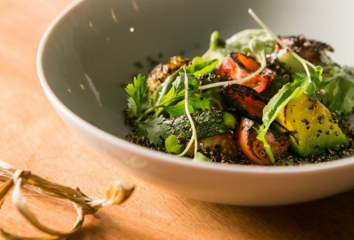 Quinoa Krispies and Roasted Vegetable Salad