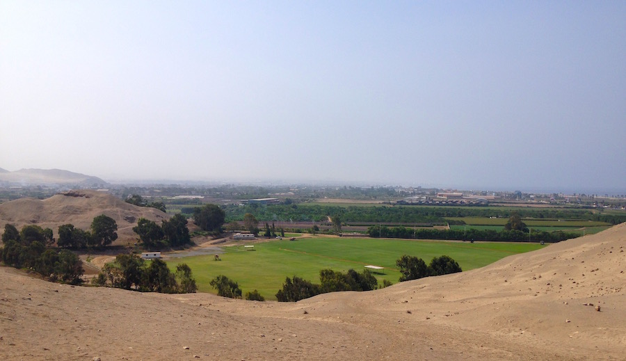 View of Lurin Valley, Peru.