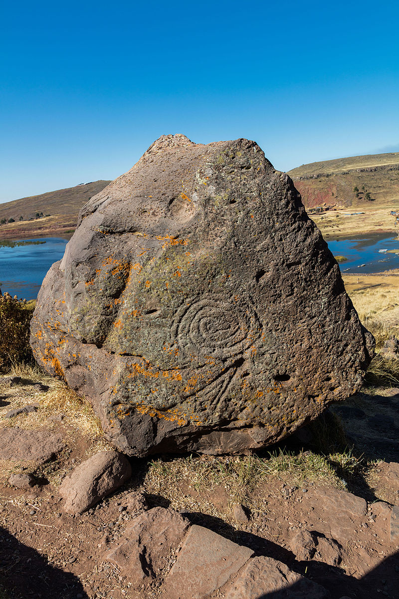 Carved elements,Sillustani - Ph. Diego Delso
