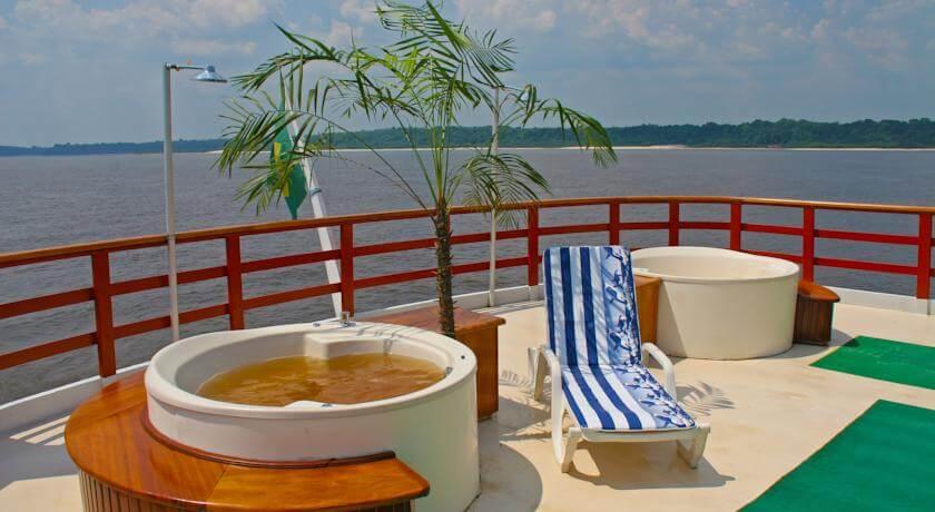 Pool Deck on Clipper Premium Amazon Cruise