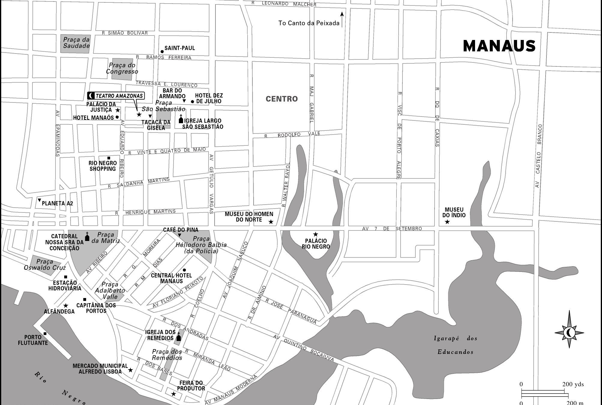 Map of Manaus (ph. moon.com)