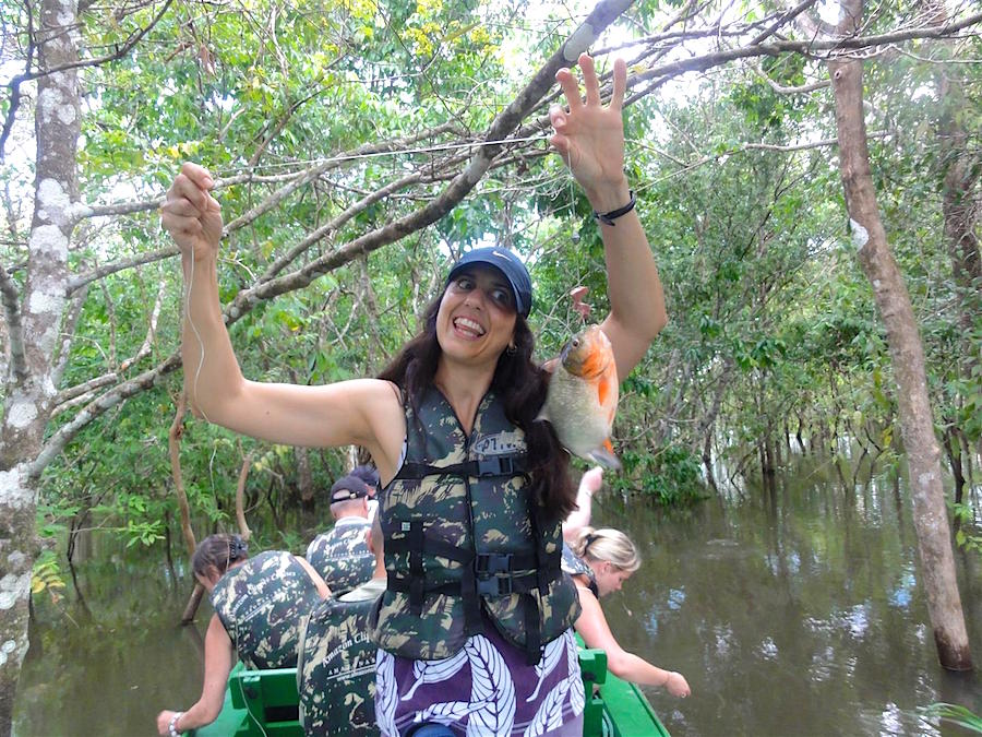 Piranha Fishing on the Amazon Clipper Cruise