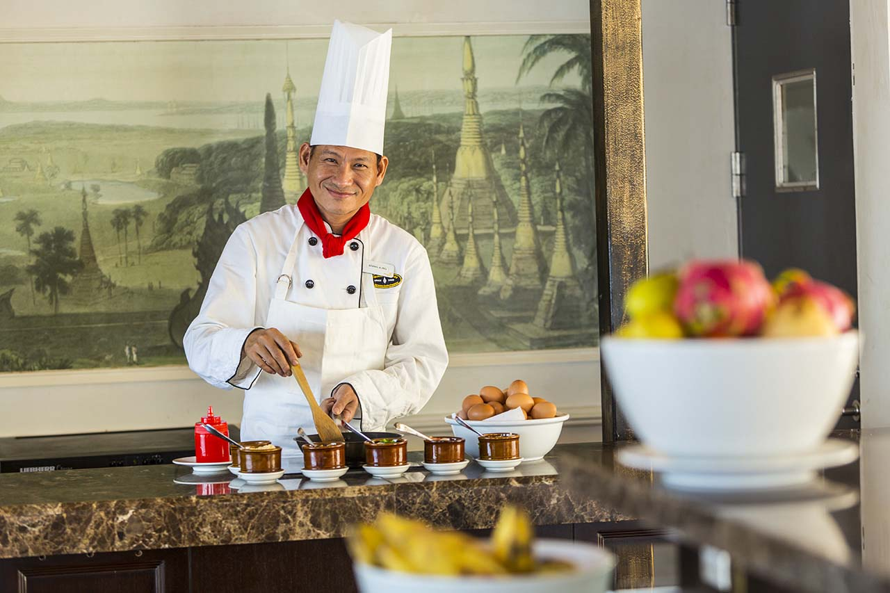 Chef Cooking Station - Irrawaddy Explorer