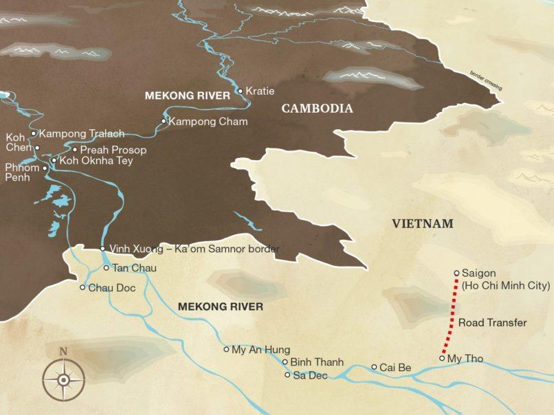 Aqua Mekong 5-Day Cruise Itinerary: Ho Chi Minh to Phnom Penh
