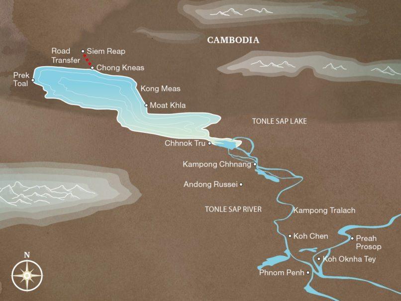 Aqua Mekong 5-Day Cruise Itinerary: Siem Reap to Phnom Penh