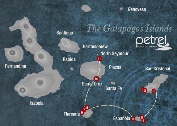 Galapagos Islands Map Petrel