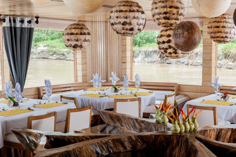 Delfin II Amazon Cruise Dining Room