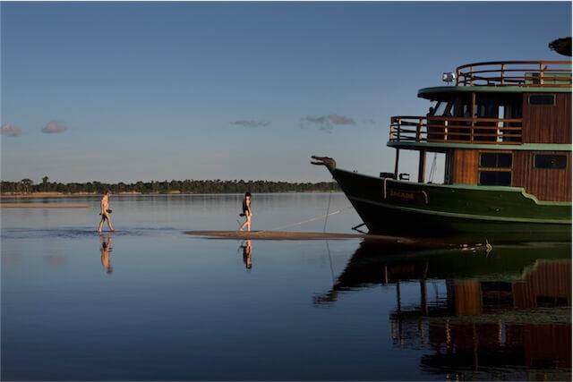 Jacare Acu Amazon Cruise Beach Time
