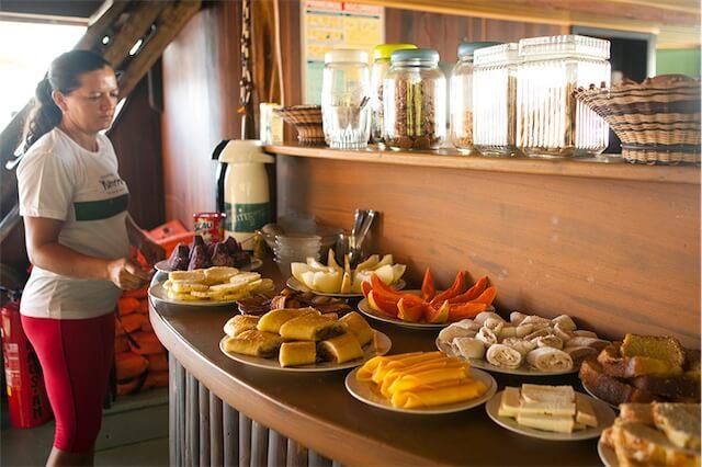 Jacare Acu Amazon Cruise Meals