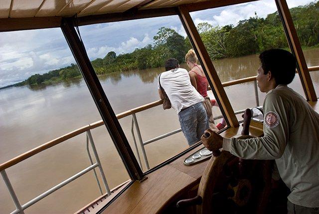 Delfin II Amazon Cruise Wheelhouse