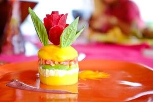 Gourmet food on luxury amazon cruises