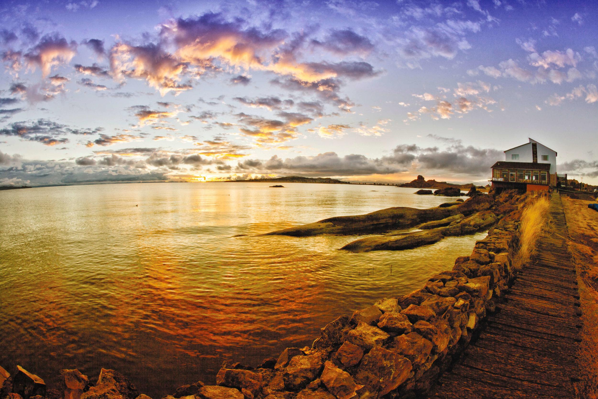 Lake Titicaca Hotel Sunset