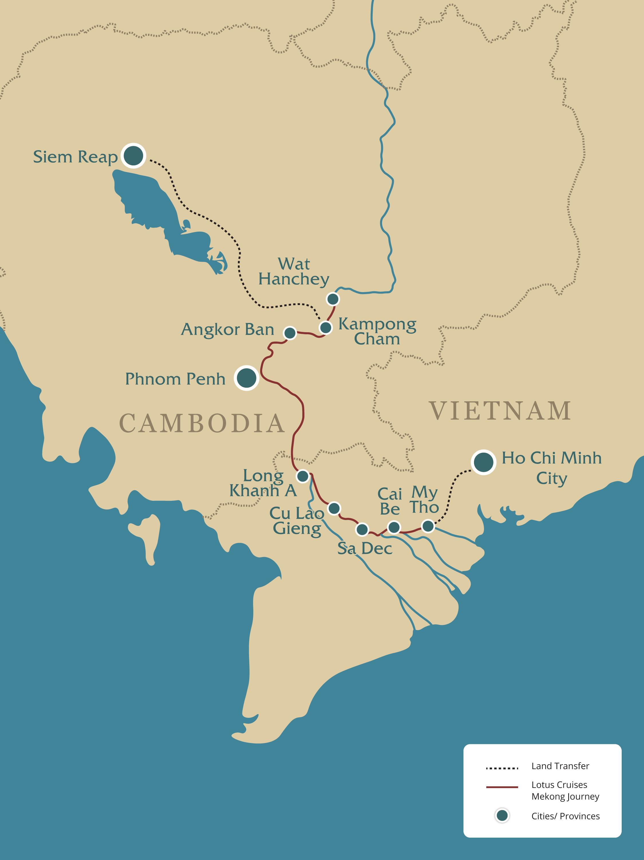 Lower Mekong Map