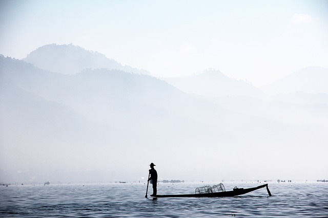 chindwin river in Myanmar