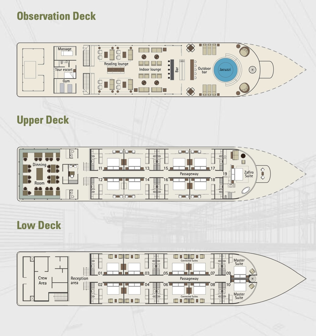 zafiro cruise deck plan