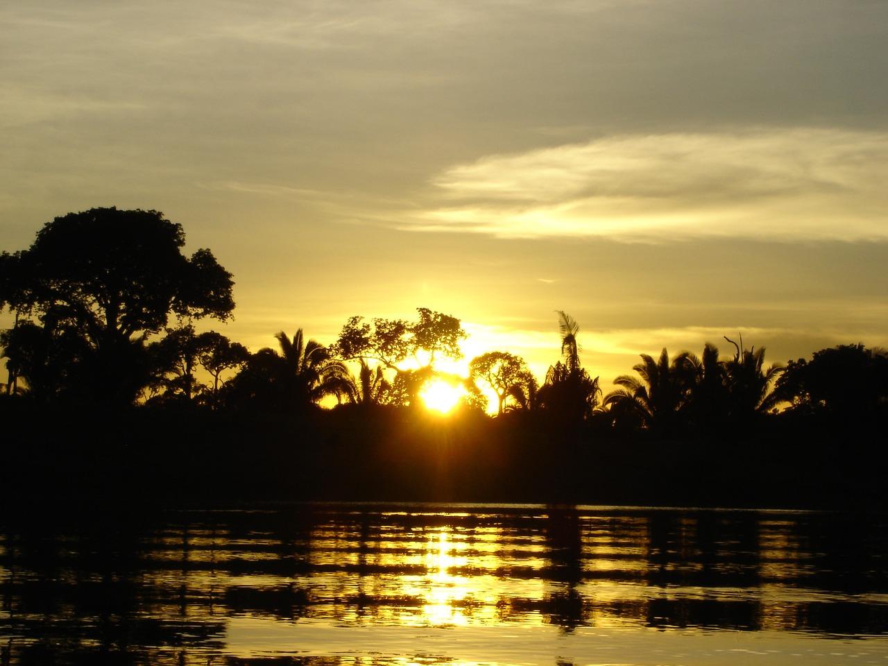 Brazil Amazon sunset