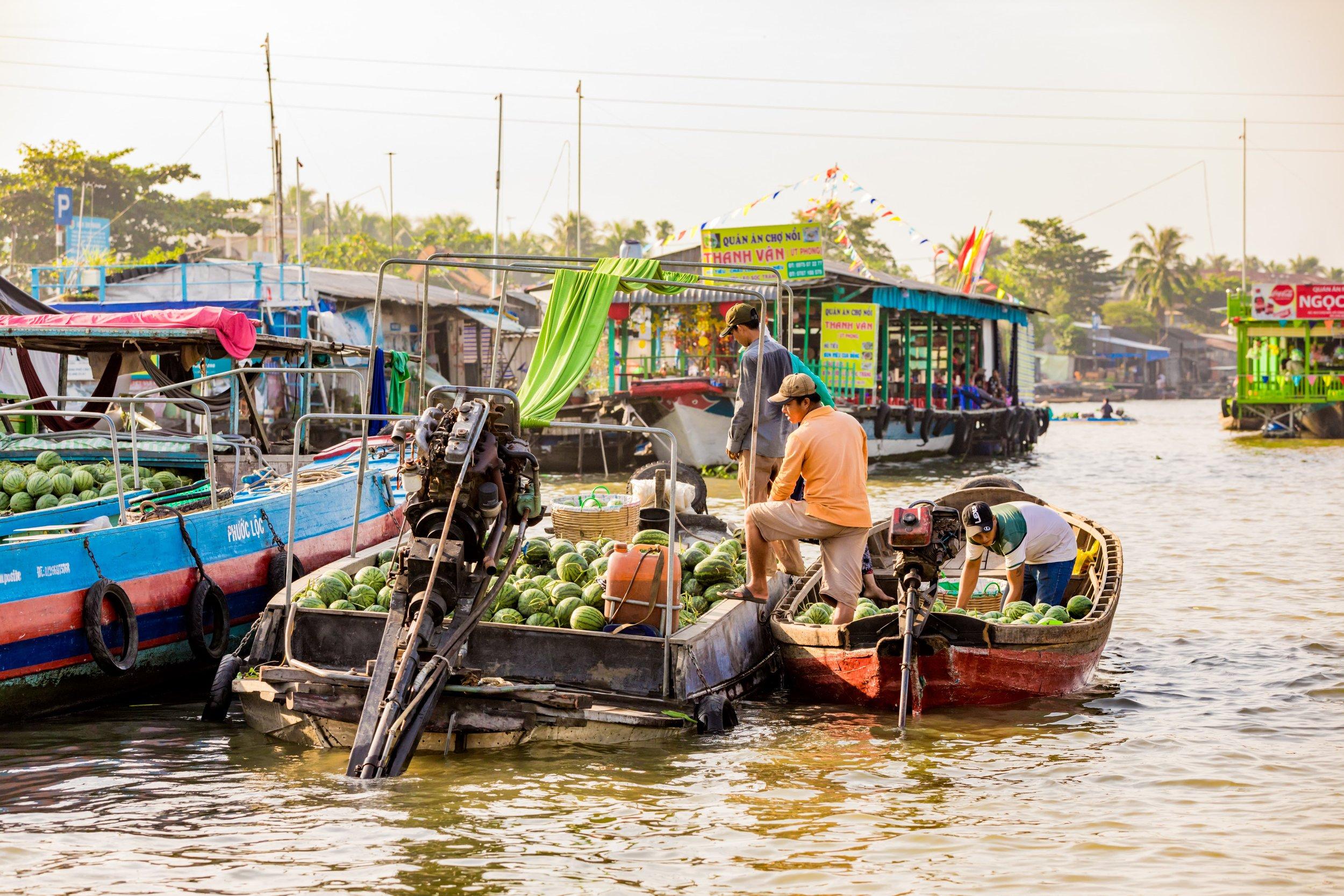 Mekong River Delta Floating Market Fruits