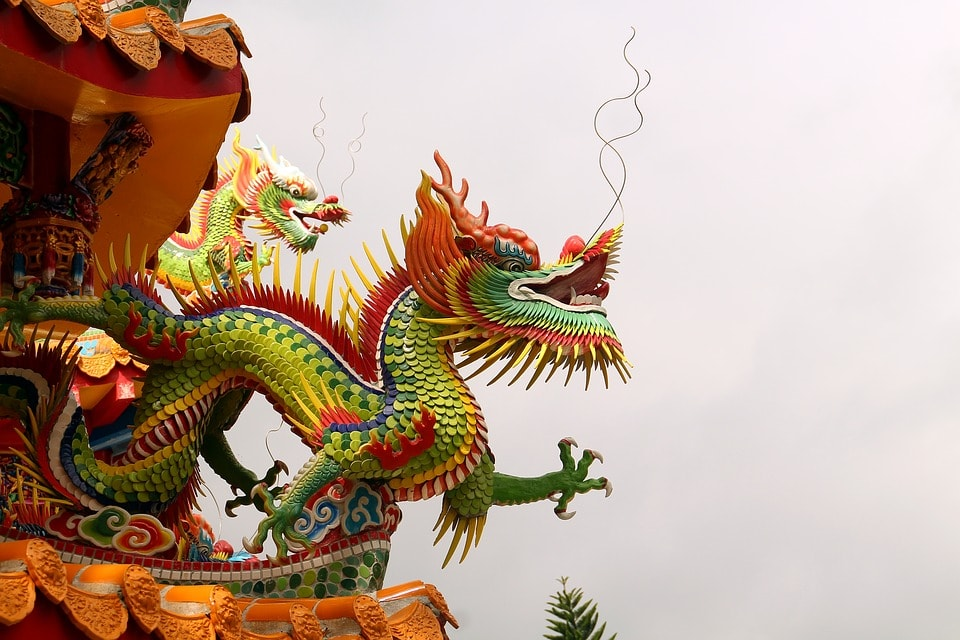 Chinese Temple Dragons