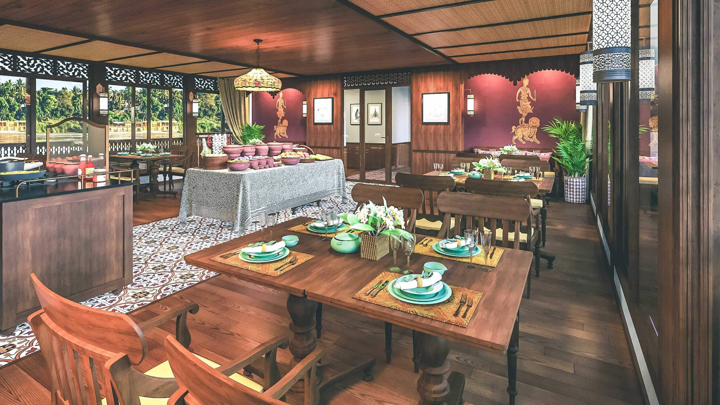 Heritage Line - Upper Mekong - Anouvong - De Lagree Dining Hall 1 - LR.jpg